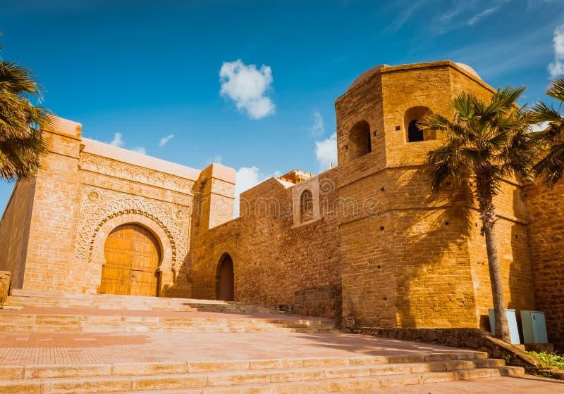 Kasbah della fortezza di Udayas a Rabat Marocco fotografia stock