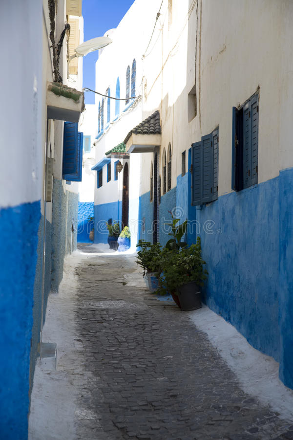 Kasbah do Udayas em Rabat, Marrocos foto de stock