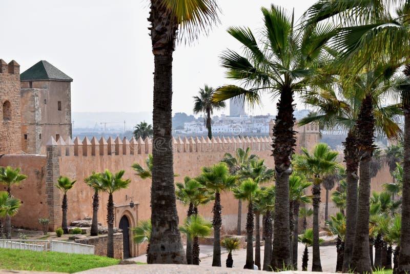 Kasbah do Udayas, Rabat imagem de stock