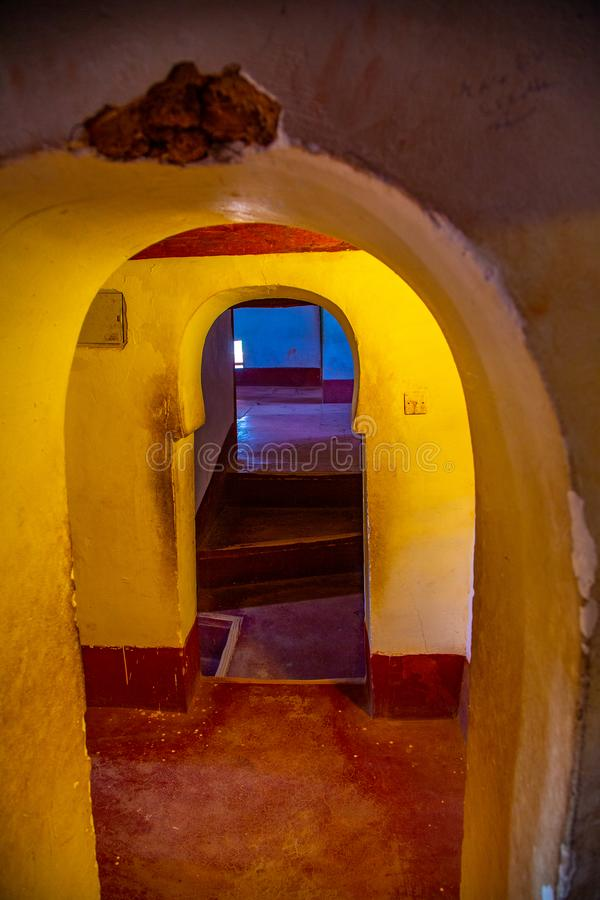 Kasbah Doorways in Quartarite royalty free stock photo
