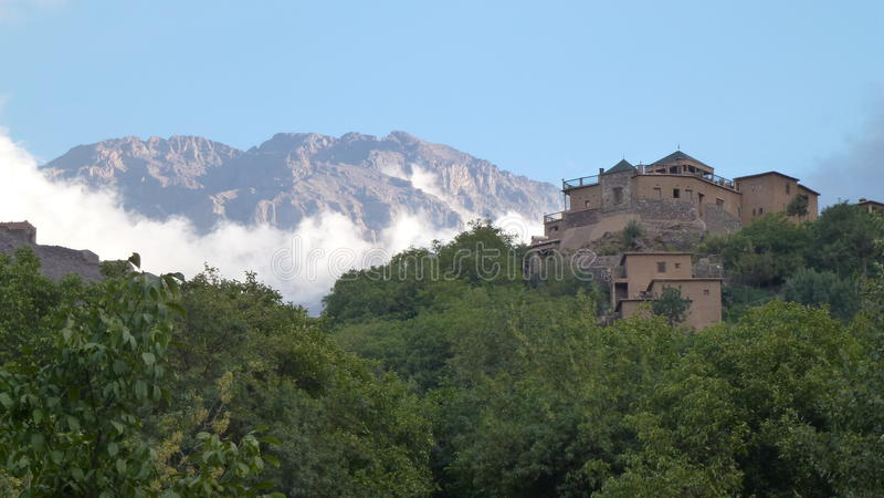 Kasbah du Toubkal - Marruecos imagen de archivo