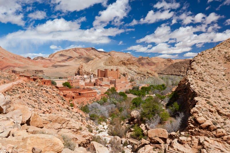 Kasbah en el valle de Dades, Maroc. foto de archivo