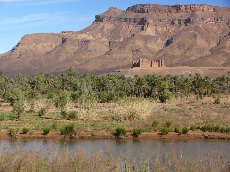 Kasbah en el valle de Draa, Marruecos foto de archivo libre de regalías