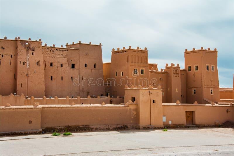 Kasbah hermoso Taourirt, Ouarzazate, Marruecos fotografía de archivo libre de regalías