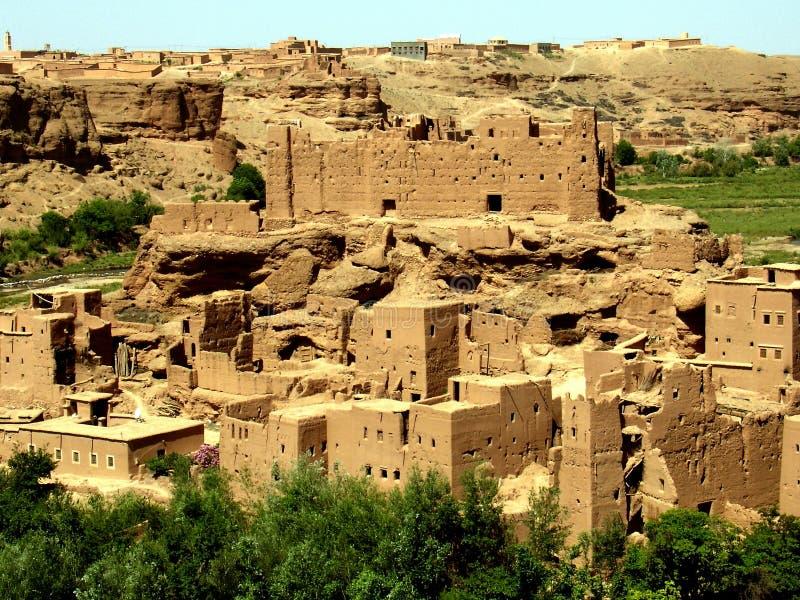 Kasbah in Morocco stock image