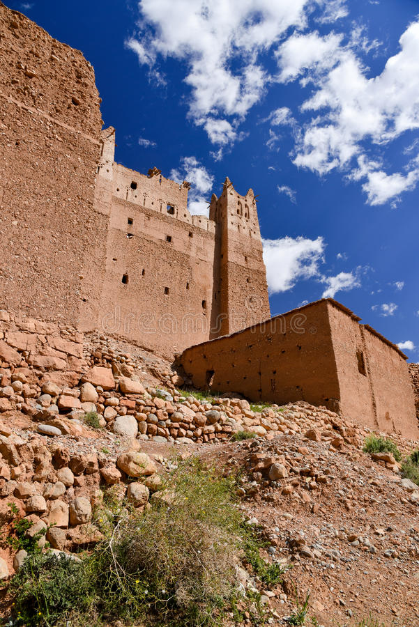 Kasbah in Morocco Dades valley royalty free stock photos