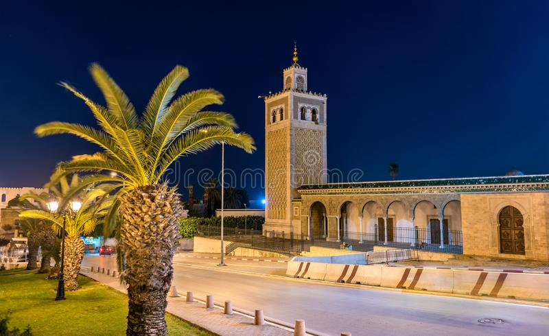 Kasbah Mosque, a historic monument in Tunis. Tunisia, North Africa. Kasbah Mosque, a historic monument in Tunis - Tunisia, North Africa stock images