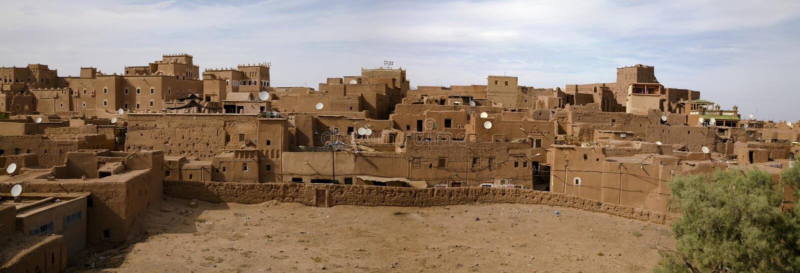 Kasbah nel ouarzazate fotografia stock libera da diritti