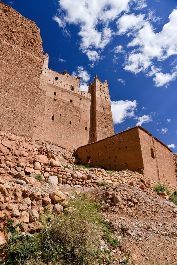 Kasbah no vale de Marrocos Dades fotos de stock royalty free