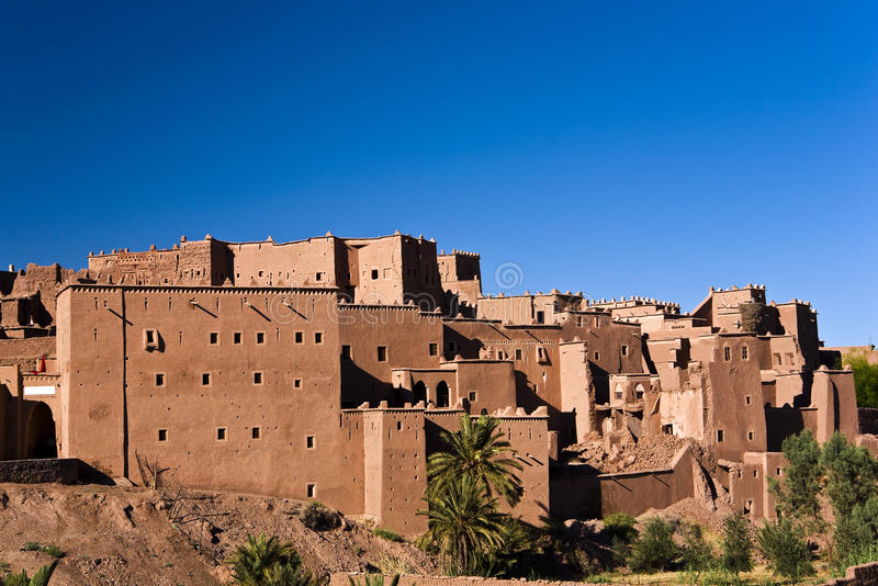 The kasbah of Ouarzazate. Morocco. Ouarzazate. The Kazbah Taourirt - general view from South-East stock photo