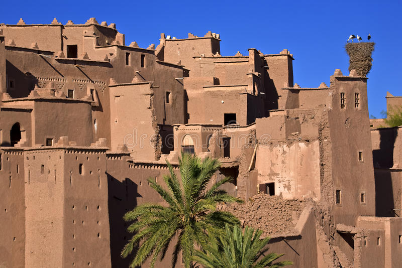 The kasbah of Ouarzazate. Morocco. Ouarzazate. The Kazbah Taourirt - fragment of walls viewed from south-east royalty free stock photography