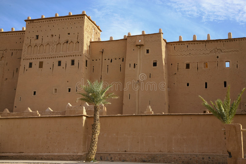 Kasbah in ouarzazate. Old Fort - the kasbah in ouarzazate royalty free stock image
