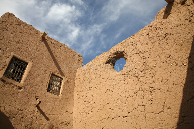 Kasbah in ouarzazate. Old Fort - the kasbah in ouarzazate stock photography