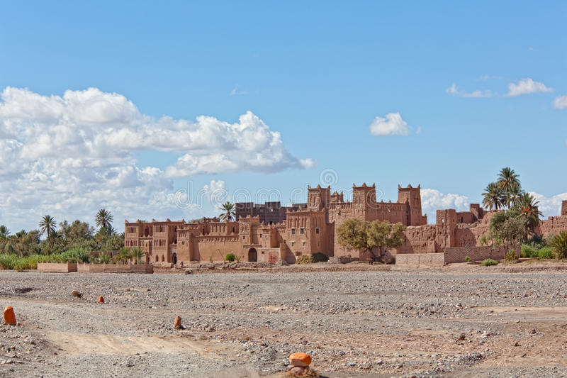 Kasbah in Ouarzazate. Fortified Mud Houses in the Kasbah, Ouarzazate, Morocco. Souss-Massa-Draâ region stock photo