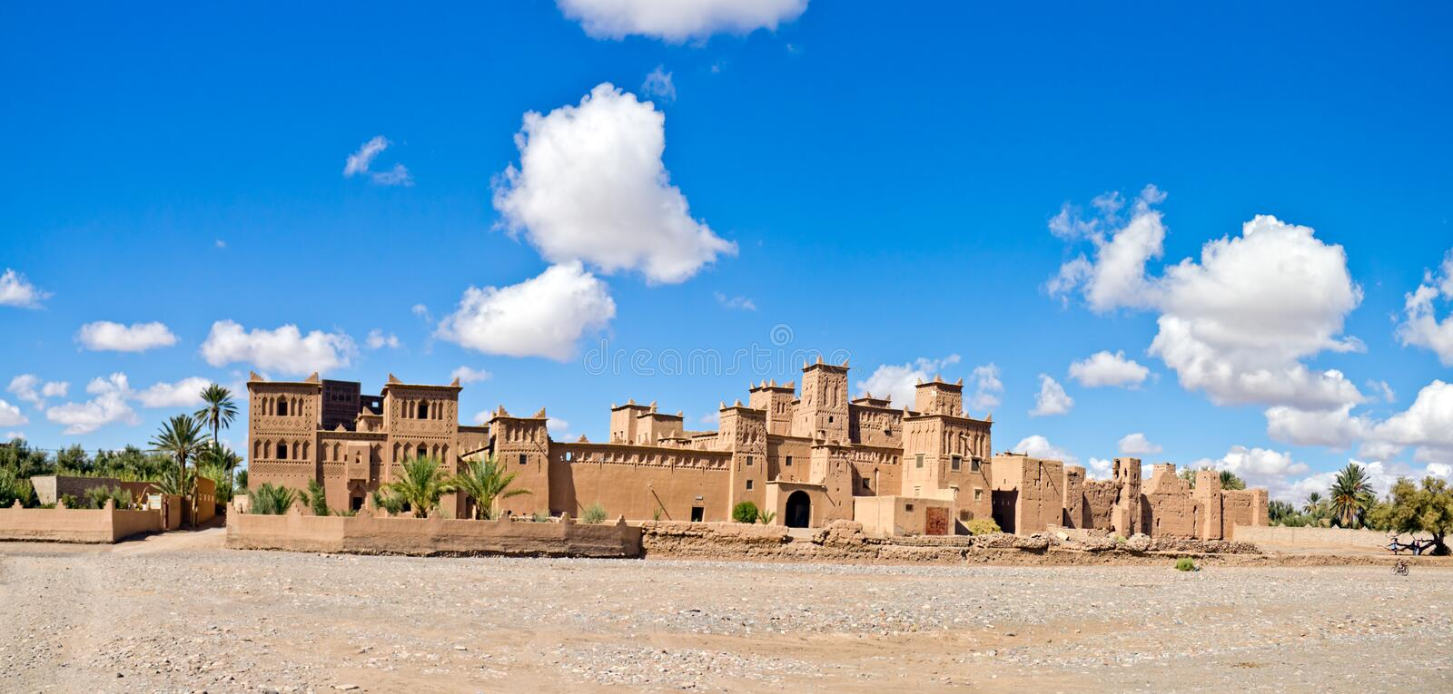 Kasbah in Ouarzazate. Fortified Mud Houses in the Kasbah, Ouarzazate, Morocco. Souss-Massa-Draâ region stock images