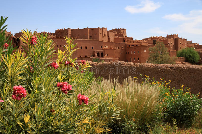 Kasbah in ouarzazate. Magnificent kasbah – old traditional arab fortress In the city of Ouarzazate stock photo