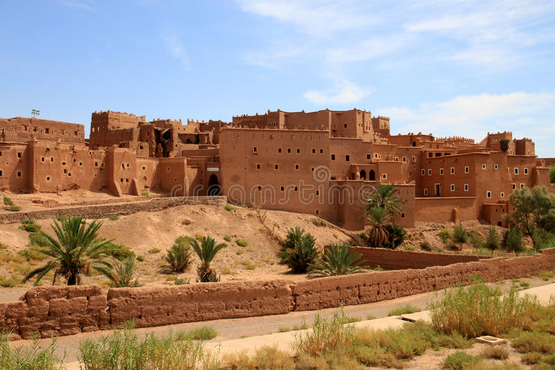 Kasbah in ouarzazate. Magnificent kasbah – old traditional arab fortress In the city of Ouarzazate stock photos
