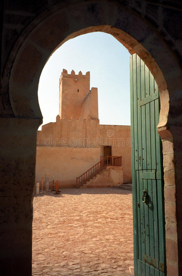 Kasbah, Sfax, Tunisia. Kasbah scene in Sfax, Tunisia royalty free stock photos