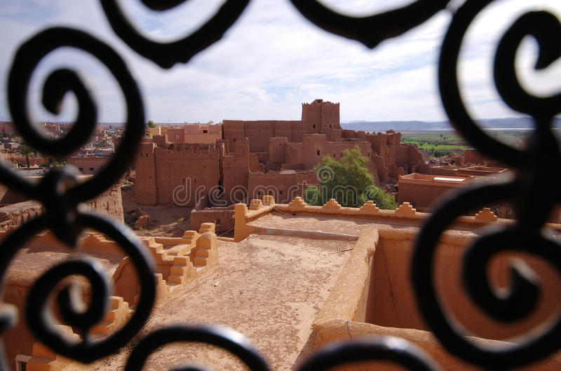 Kasbah Taourirt in Ouarzazate, Morocco. Famous kasbah Taourirt in Ouarzazate, Morocco stock photography