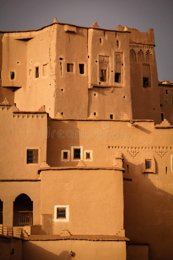 Kasbah Taourirt . Ouarzazate. Morocco. Medieval buildings in Taourirt kasbah.Ouarzazate. Morocco royalty free stock photography