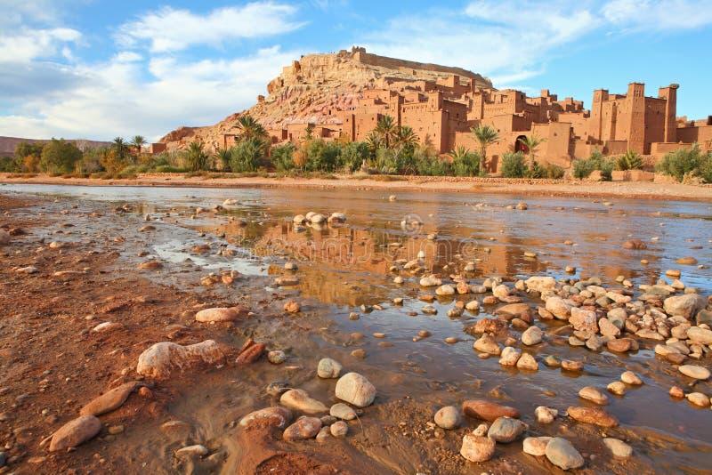 Kasbah van AIT Benhaddou stock foto's
