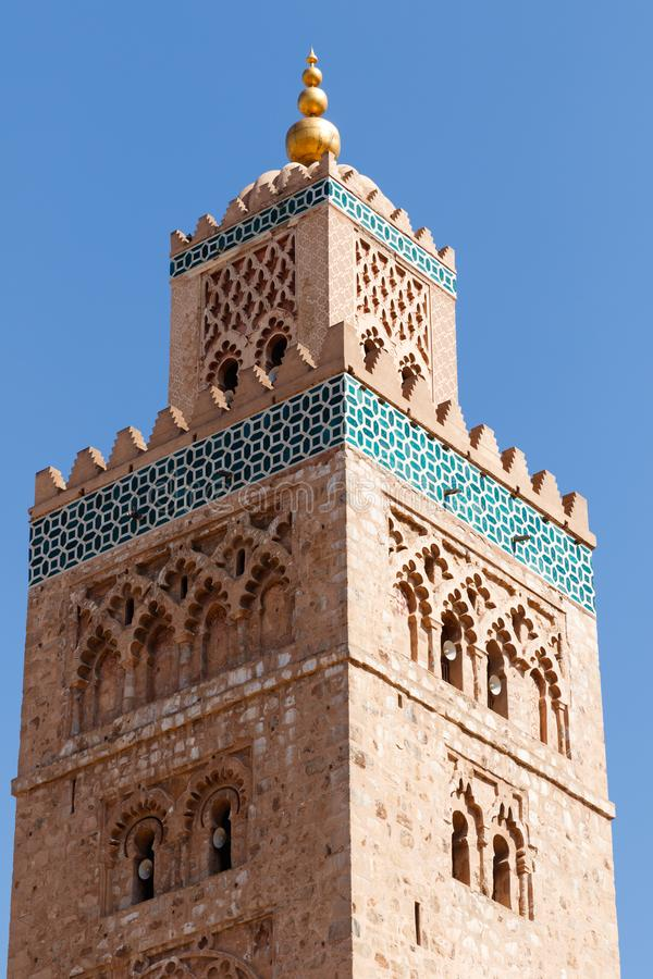 Kasbahmoskee in Marrakech Marrakech, Marrakech-Safi, Marokko royalty-vrije stock foto's