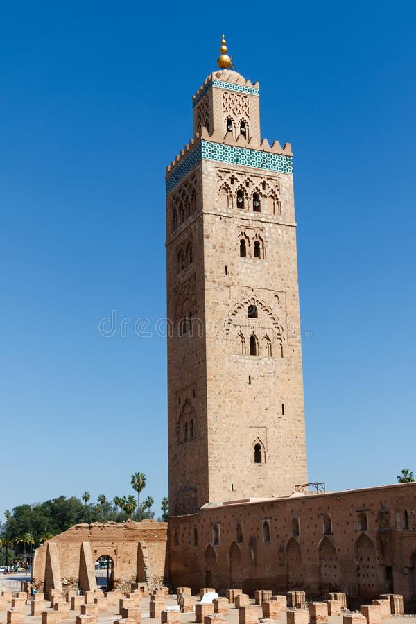 Kasbahmoskee in Marrakech Marrakech, Marrakech-Safi, Marokko stock afbeeldingen