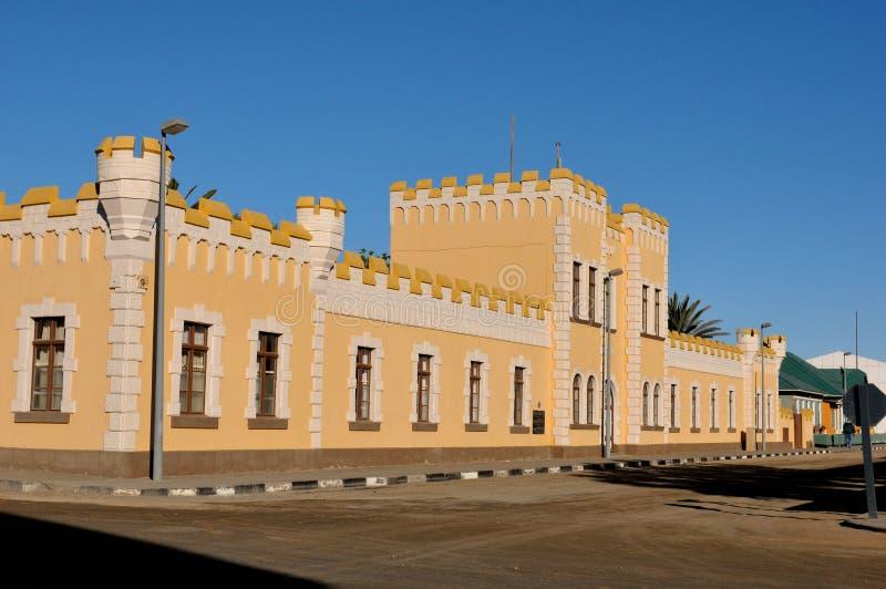 Kaserne大厦,斯瓦科普蒙德,纳米比亚 库存图片