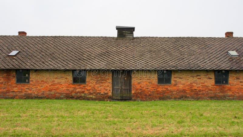 Kasernen bei Birkenau lizenzfreie stockfotografie