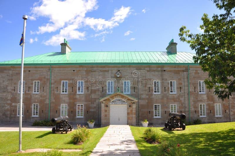 Kasernen in Citadelle von Quebec, Quebec City lizenzfreie stockfotografie