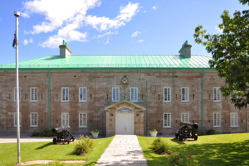 Kasernen in Citadelle von Quebec, Quebec City stockbild