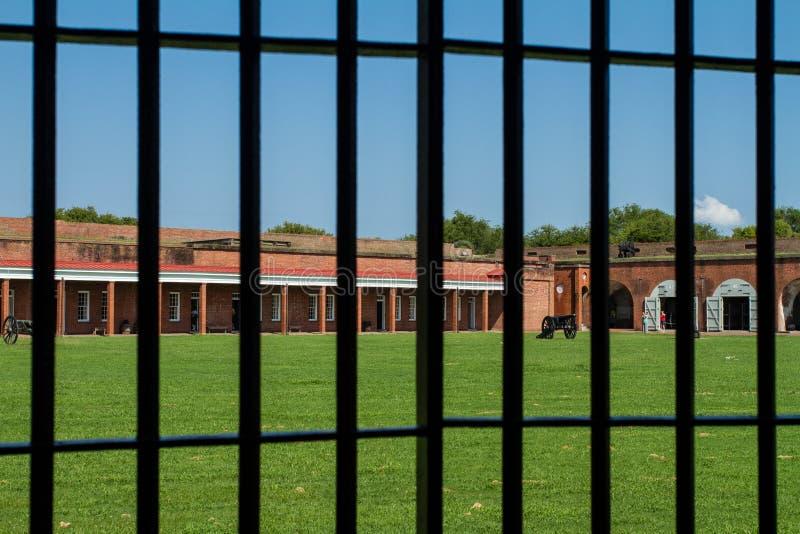 Kasernen am Fort Pulaski lizenzfreie stockfotografie