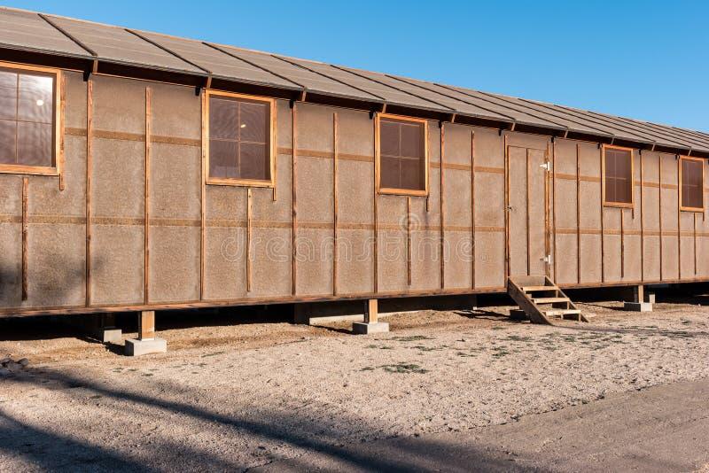 Kasernen, Manzanar-Staatsangehörig-historische Stätte stockbild