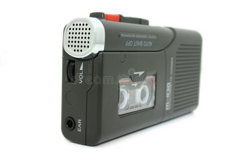 kaseta dyktafon pojedynczy mini white zdjęcia royalty free