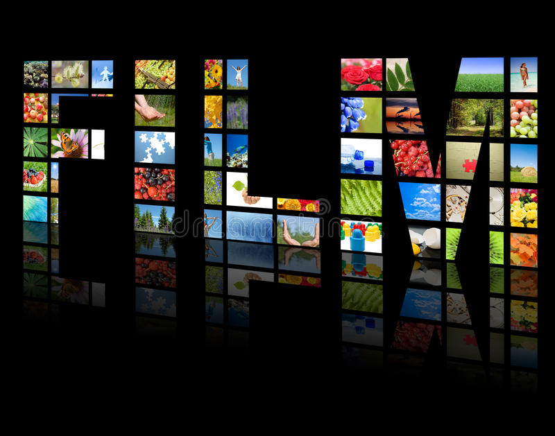 kasetonuje produkci telewizję tv zdjęcie royalty free