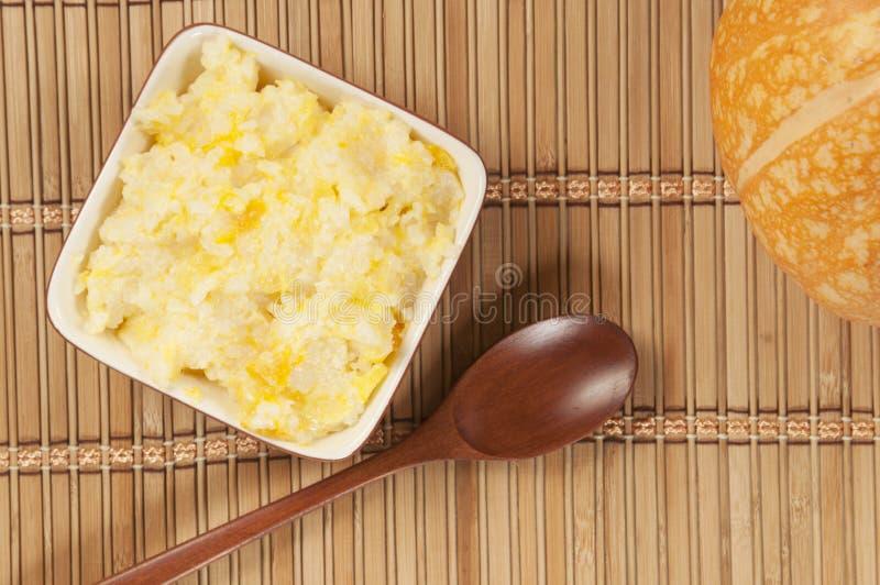 Kasha del riso con la zucca fotografia stock libera da diritti