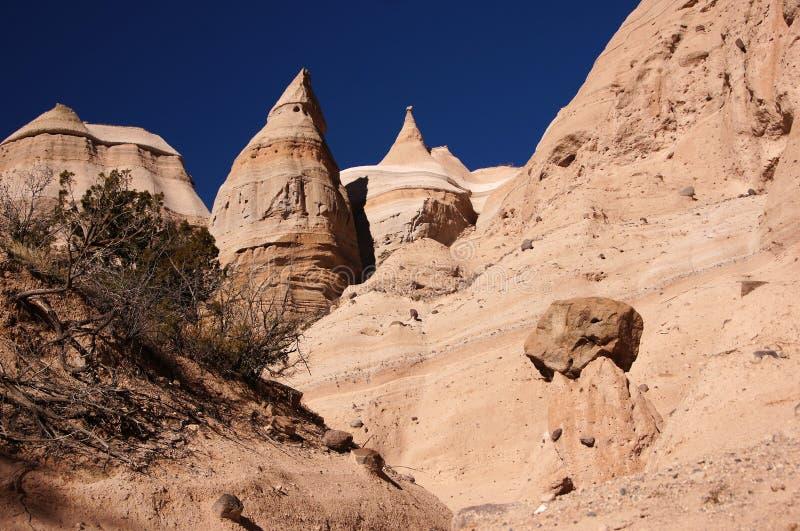Kasha-Katuwe Tent Rocks National Monument, New Mexico, USA stock photos