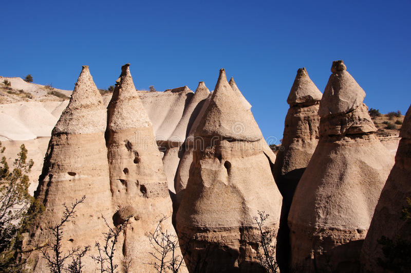 Kasha-Katuwe Tent Rocks National Monument, New Mexico, USA royalty free stock photo