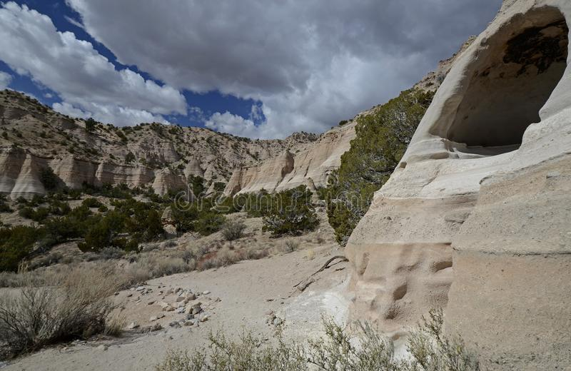 Kasha-Katuwe Tent Rocks National Monument, New Mexico, USA stock photography