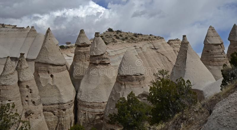 Kasha-Katuwe Tent Rocks National Monument, New Mexico, USA. The Kasha-Katuwe Tent Rocks National Monument is a remarkable outdoor laboratory, offering an royalty free stock photography