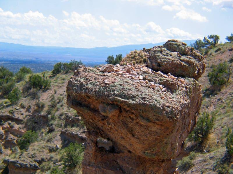 Kashe Katuwe Hoodoo rock Formation from base of Slot Canyon Trail royalty free stock images