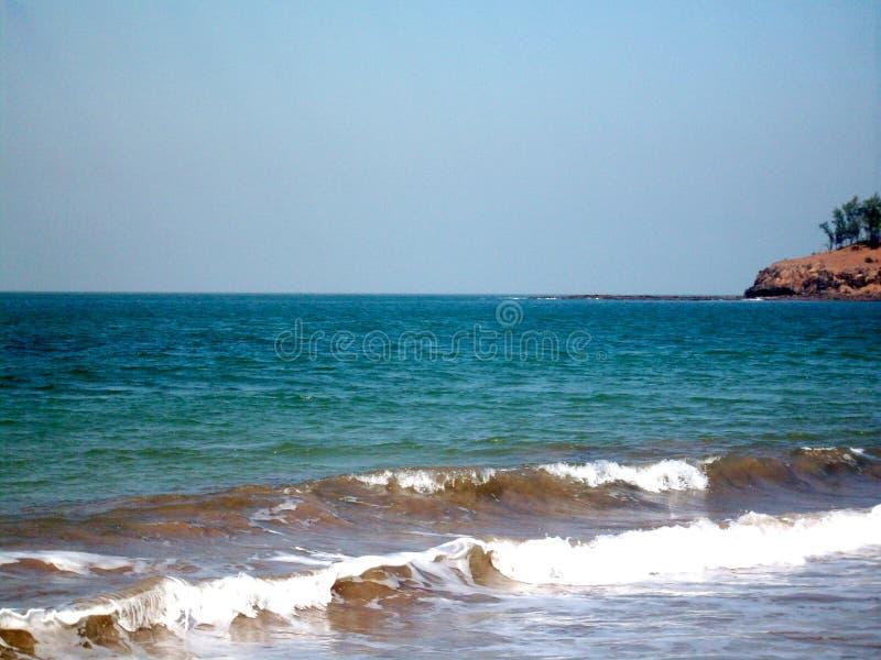 A beautiful KASHID BEACH IN MAHARASHTRA, INDIA royalty free stock images