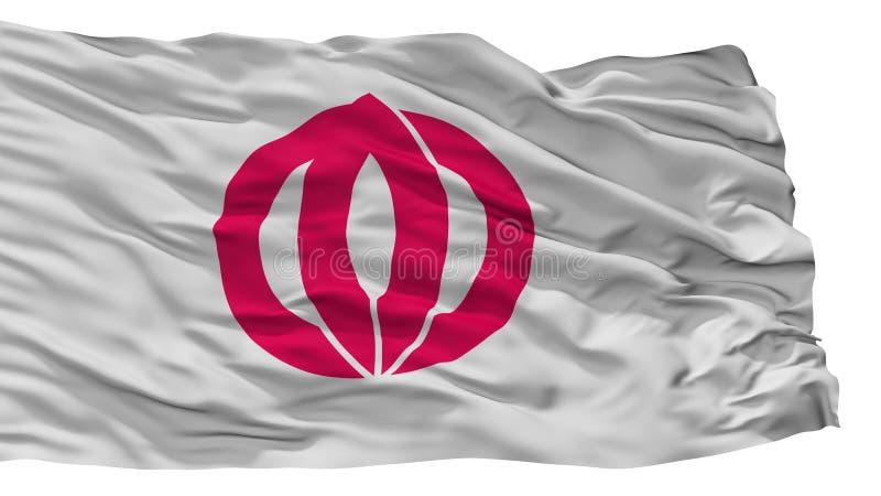Kashima-Stadt-Flagge, Japan, Saga-Präfektur, lokalisiert auf weißem Hintergrund stock abbildung