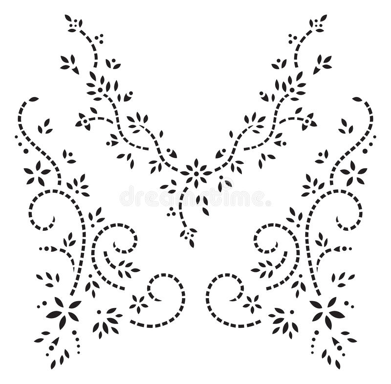 Kashmir henna design fashion stock illustration