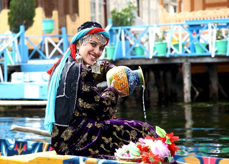 Kashmiri girl stock image