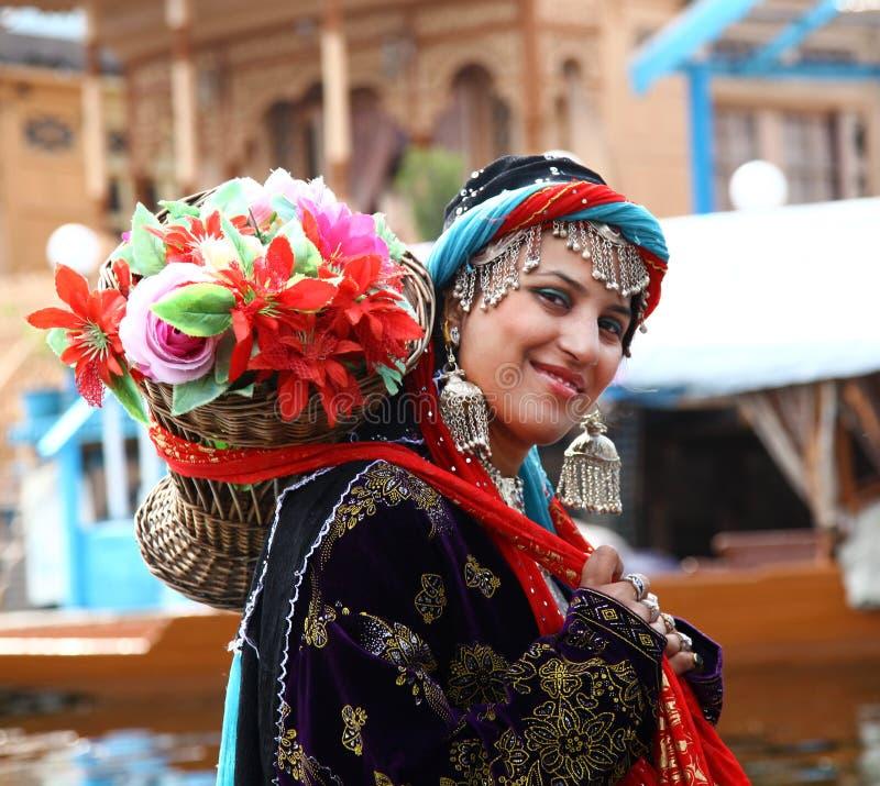 Kashmiri girl royalty free stock image