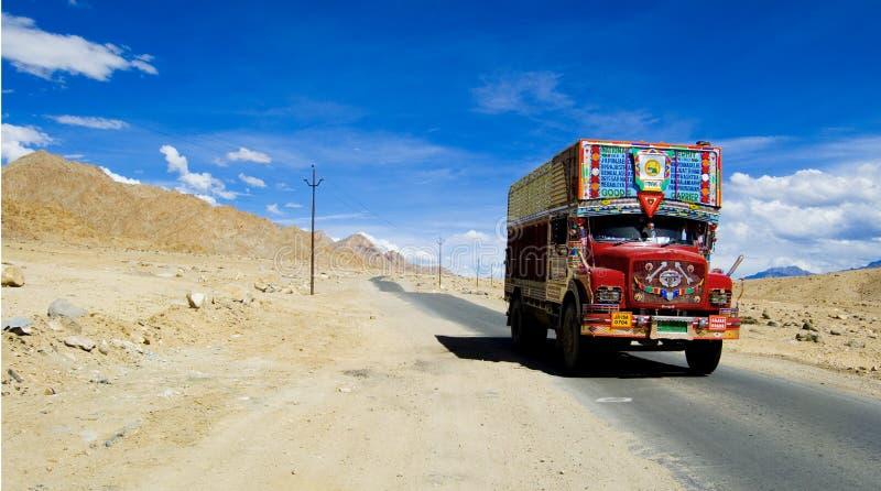 Kashmiri truck royalty free stock image