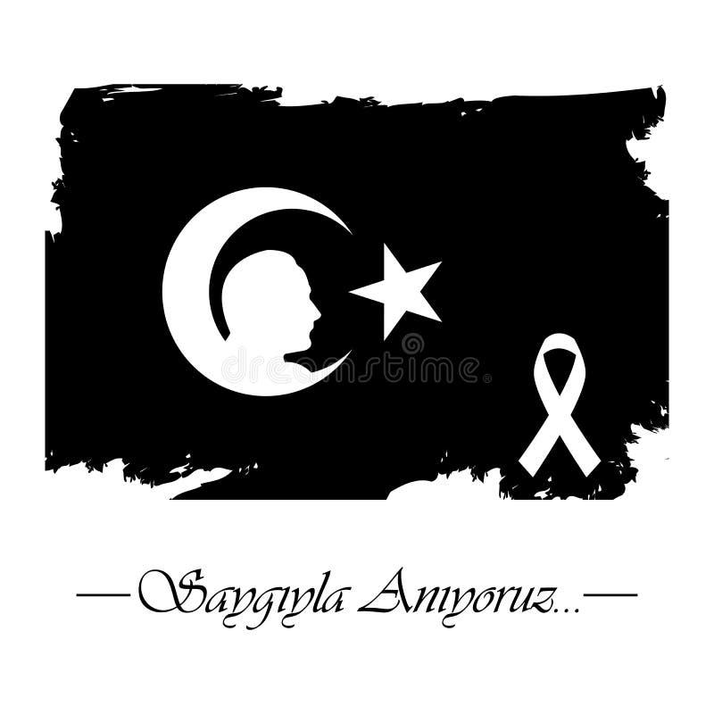 10 Kasim, Mustafa Kemal Ataturk Olum Yildonumu Turkse betekenis: vector illustratie