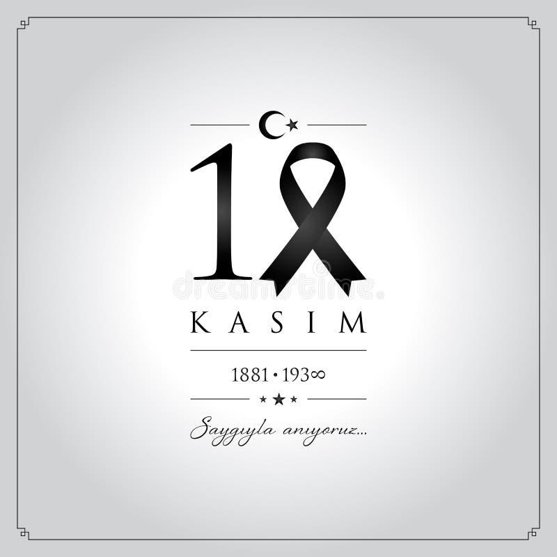 10 November, Mustafa Kemal Ataturk Death Day anniversary. 10 kasim vector illustration. (10 November, Mustafa Kemal Ataturk Death Day anniversary.) vector illustration