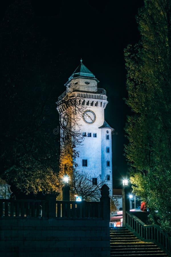 Kasino塔的Nightshow在柏林Frohnau 免版税库存图片